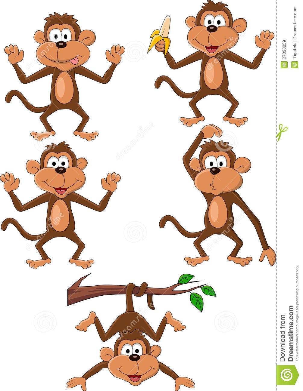 Jogo Dos Desenhos Animados Do Macaco Imagens De Stock Royalty Free