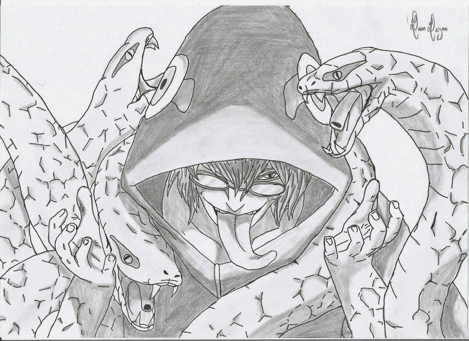 Caioplayart  Desenho Do Kabuto No Modo Sennin De Naruto Shippuden!