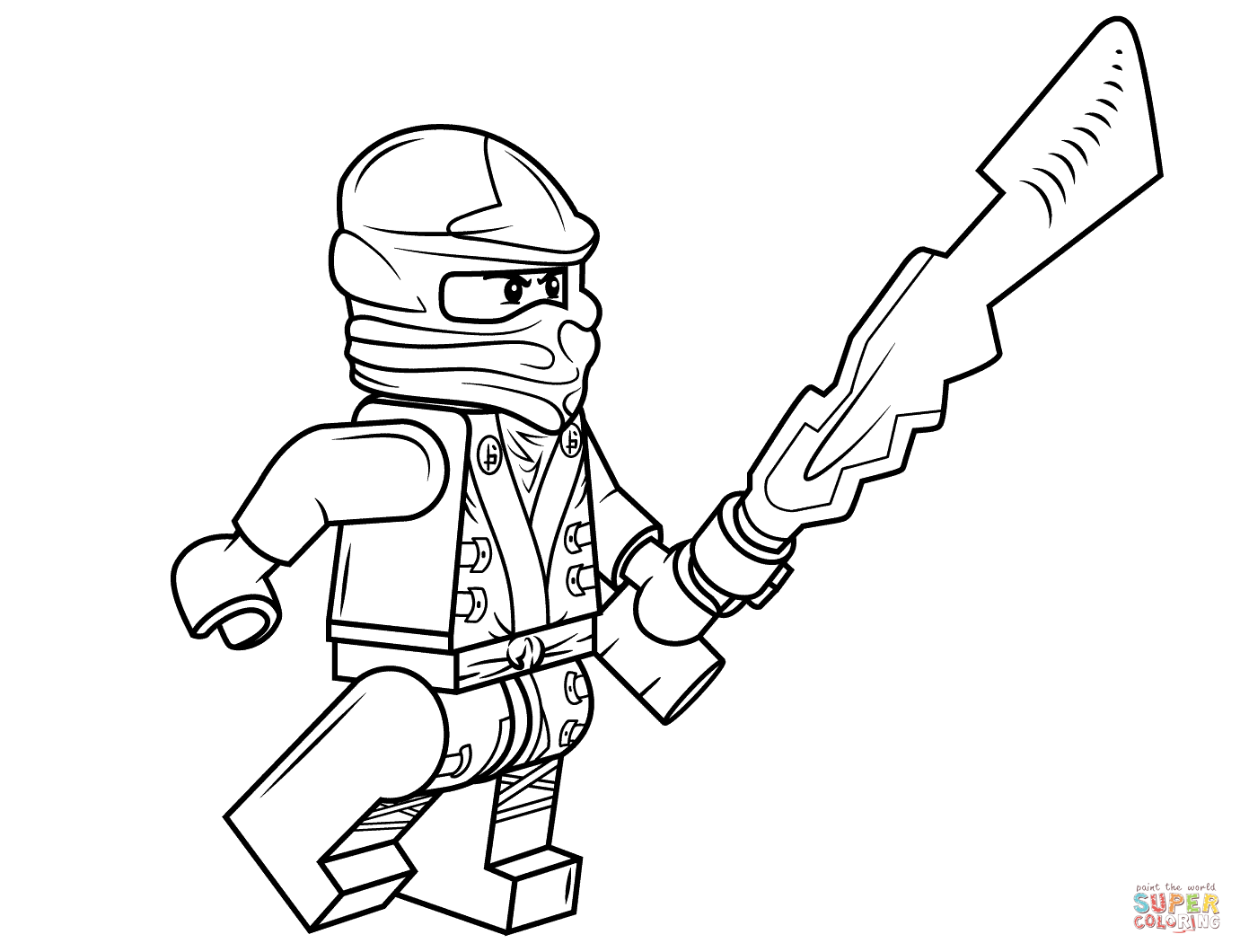 Desenho De Lego Ninjago Cole Para Colorir