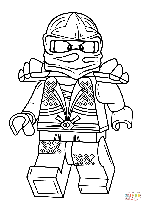 Desenho De Lego Ninjago Lloyd Zx Para Colorir
