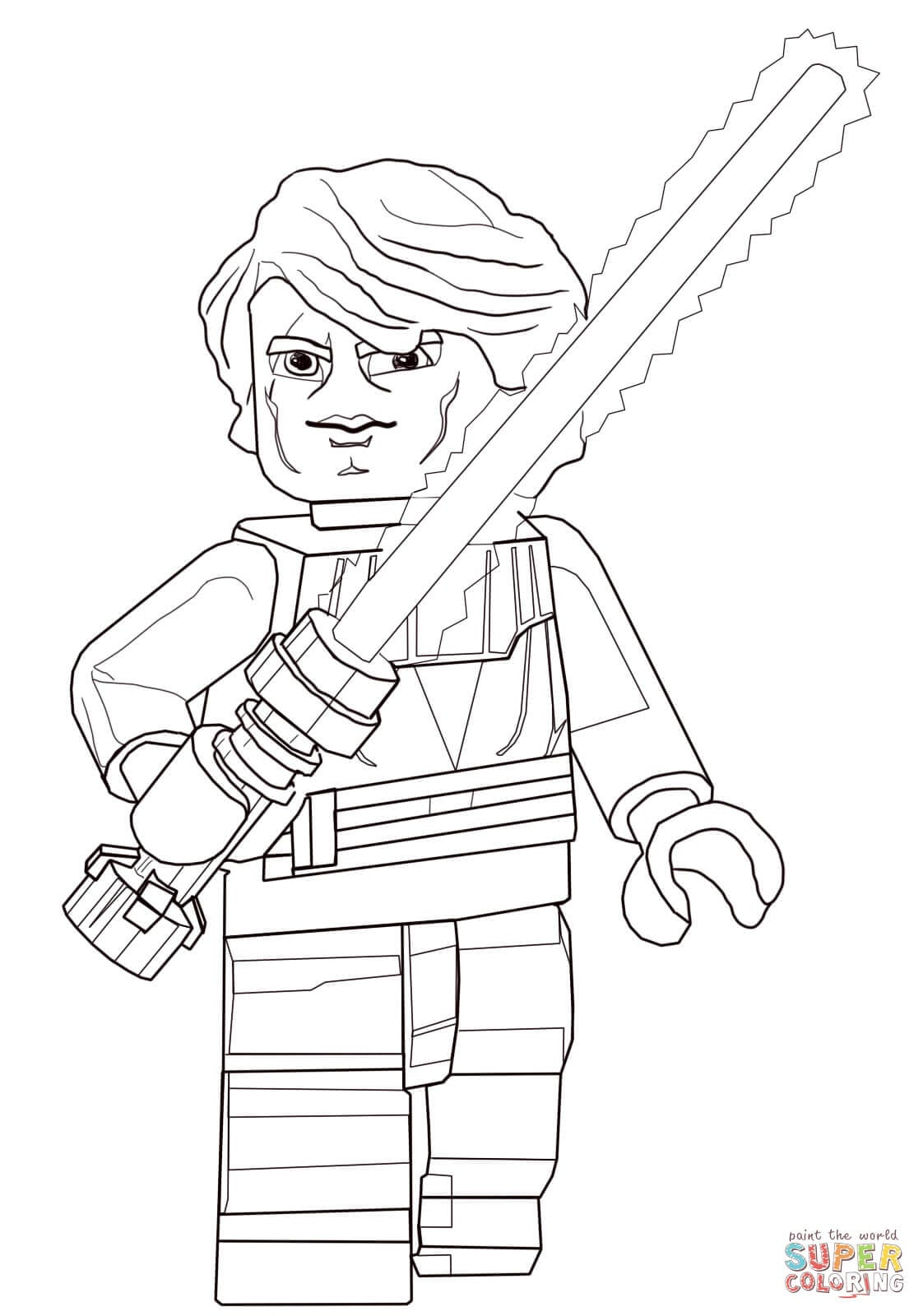 Desenho De Lego Star Wars Anakin Skywalker Para Colorir