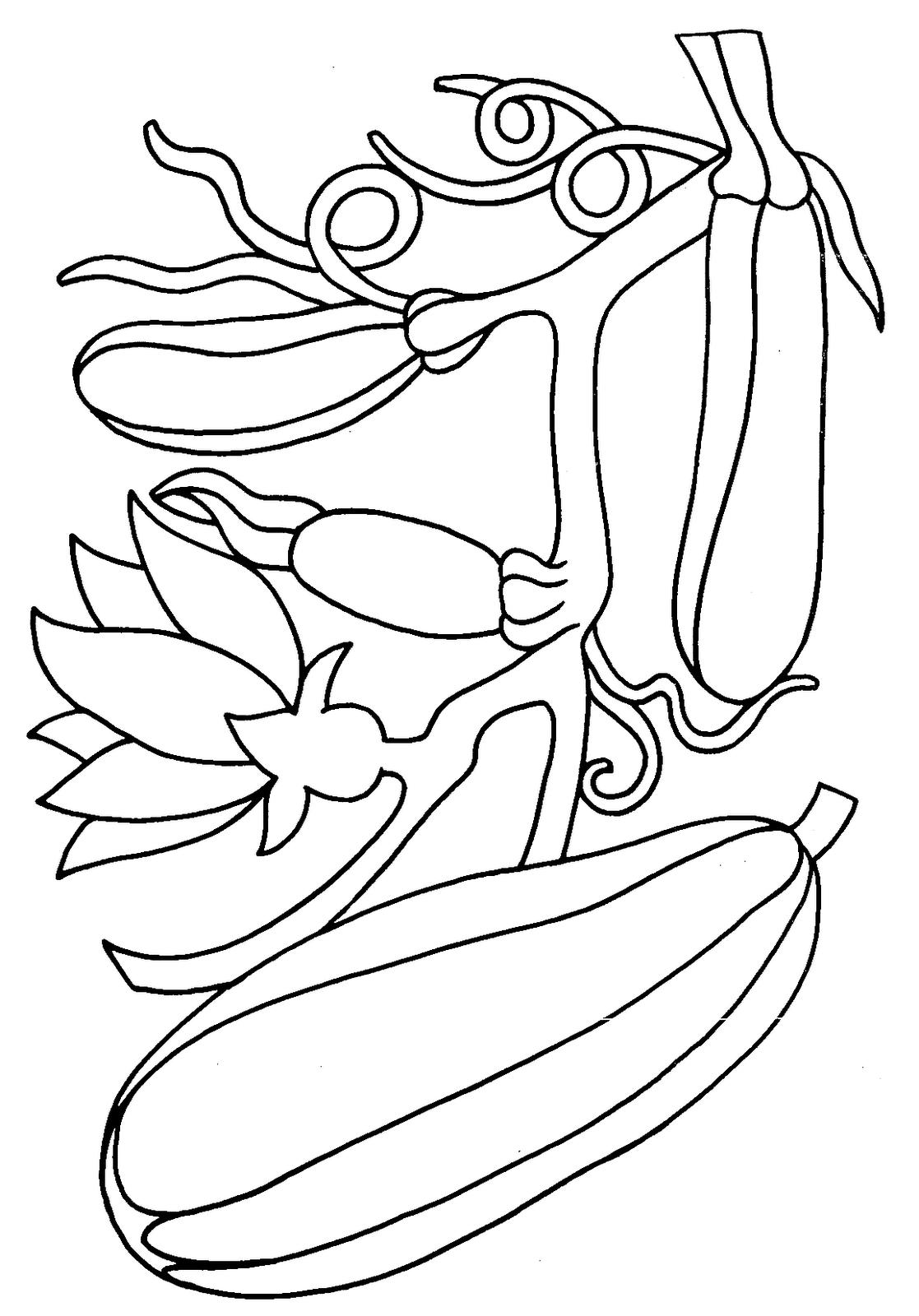 Desenhos De Legumes – Verduras Para Colorir E Imprimir