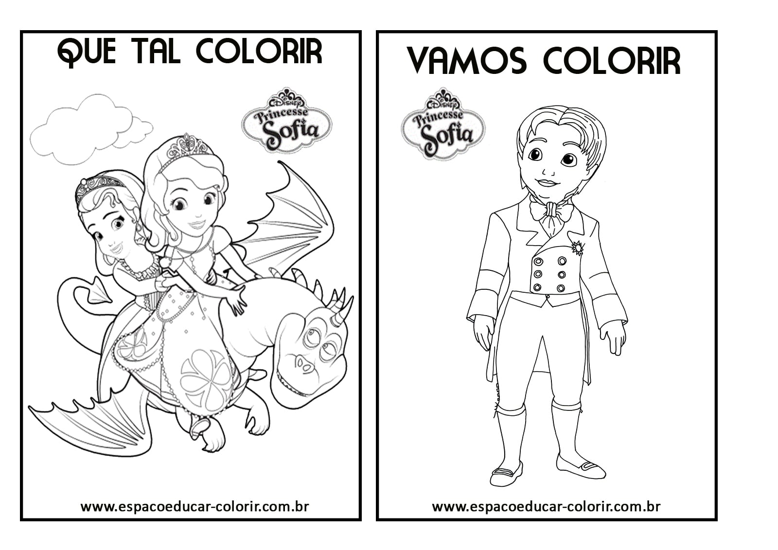 Desenhos Da Princesa Sofia Para Colorir E Imprimir