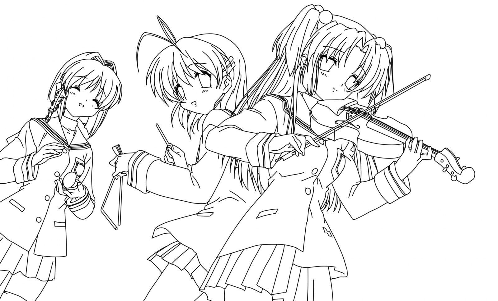 Desenhos Manga Para Pintar  Desenhos Manga Para Colorir