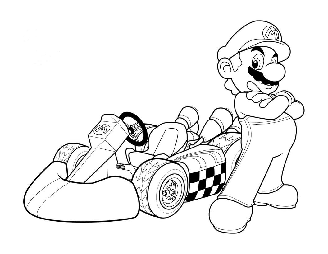 Desenhos Do Mario Para Colorir