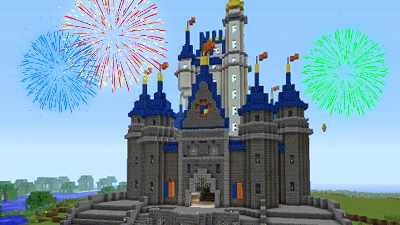 Minecraft  Como Nao Desenhar O Castelo Da Disney !! ( Pixel