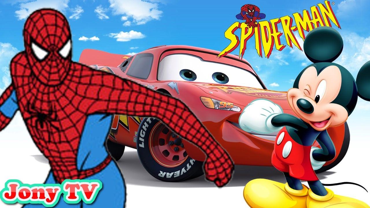 Homem Aranha Desenho Animado Vs Mickey Mouse Disney Pixar Cars
