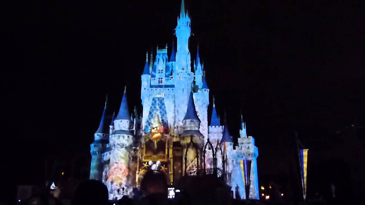 Show De Luzes Da Sininho No Castelo Da Disney Orlando FlÓrida Usa
