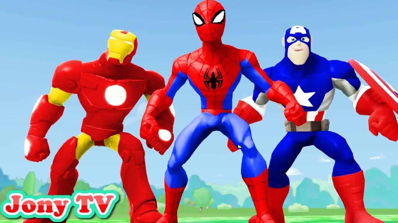 Homem Aranha Desenho Animado Em Portugues Vs Homem De Ferro Vs