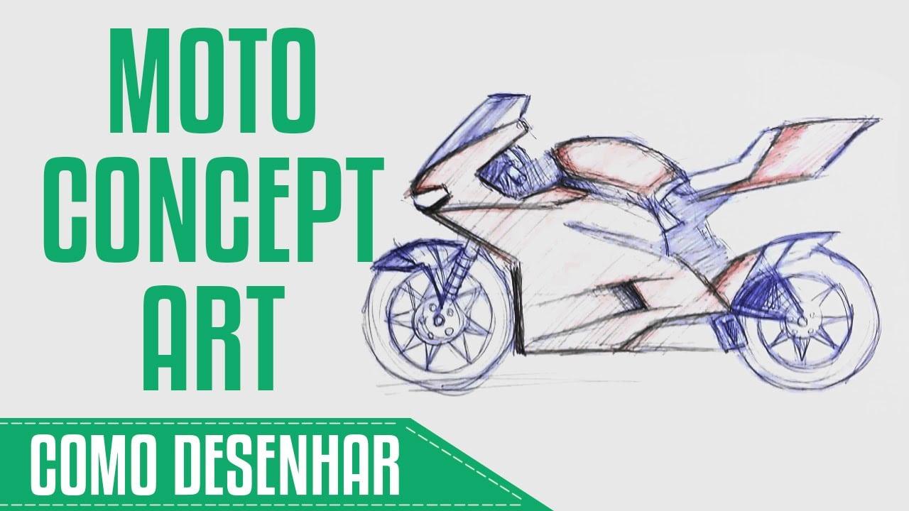 Como Desenhar Moto