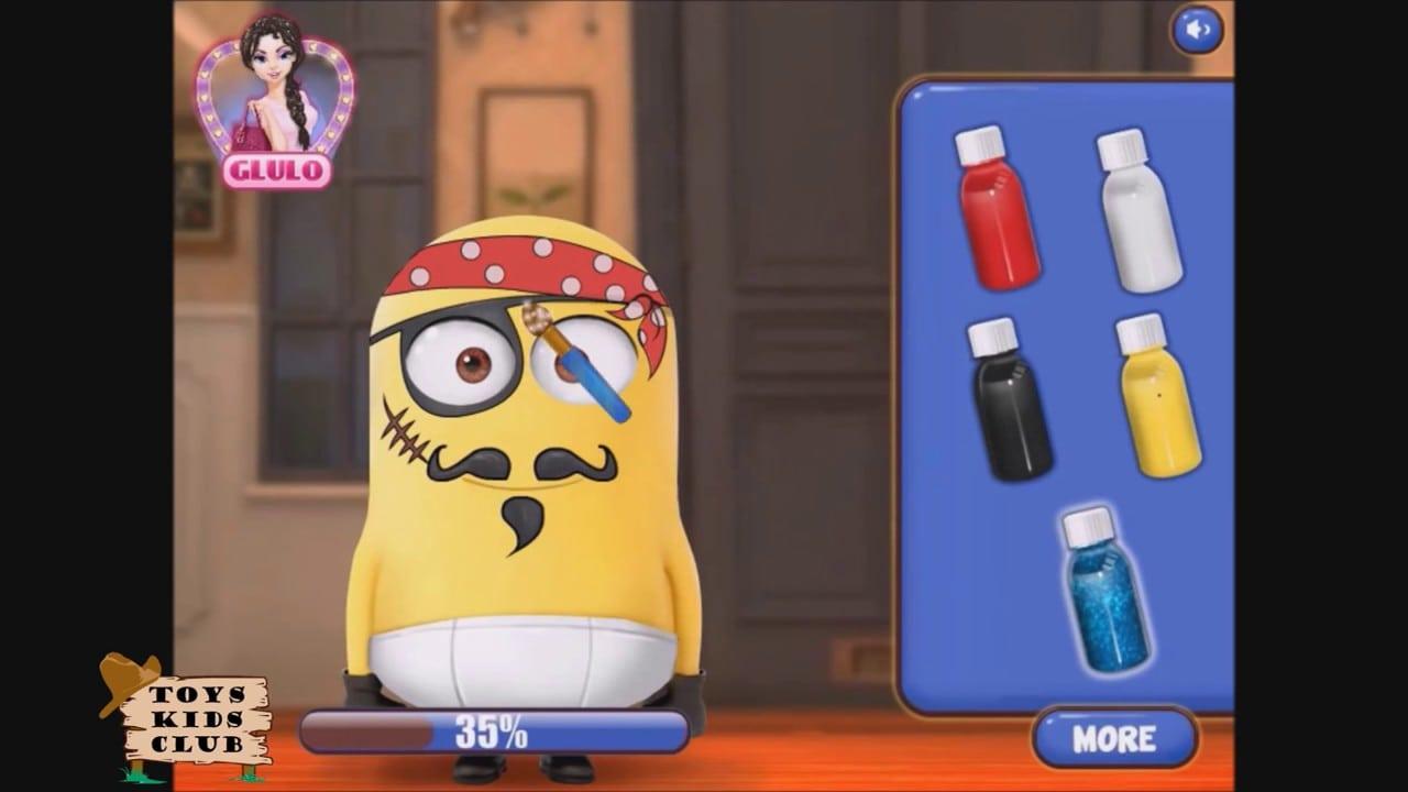 Minions Homem Aranha Pirata Jogo Pintura Facial Game Minions