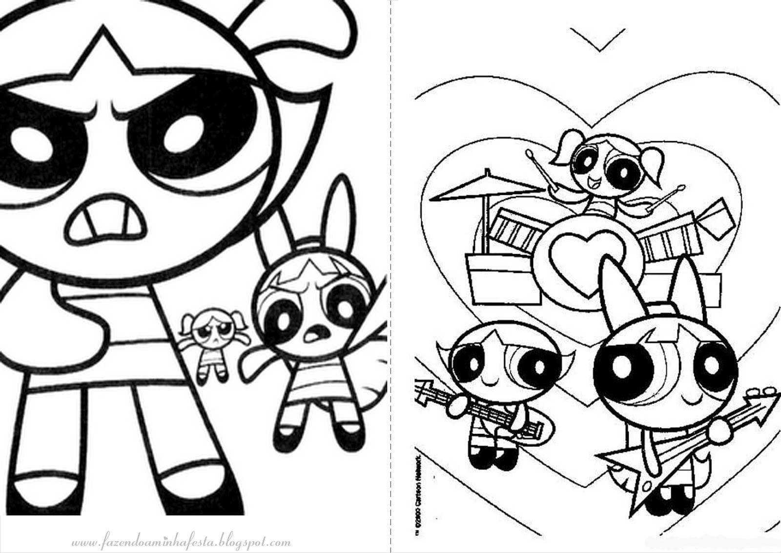 Desenhos Para Colorir Meninas Super Poderosas