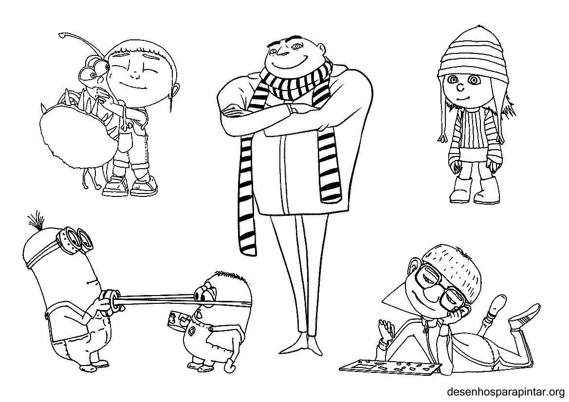 Meu Malvado Favorito E Os Minions Desenhos Para Imprimir, Colorir