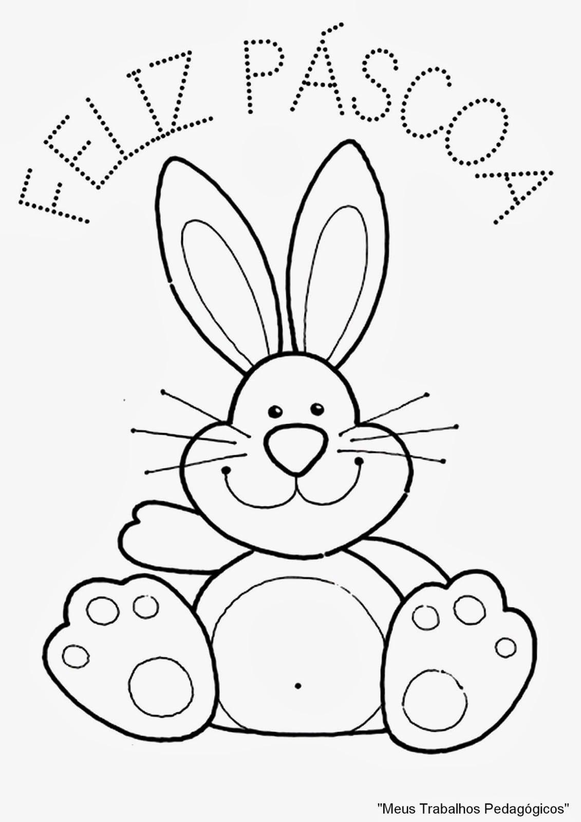 Desenho Para Colorir Coelho Da Pascoa