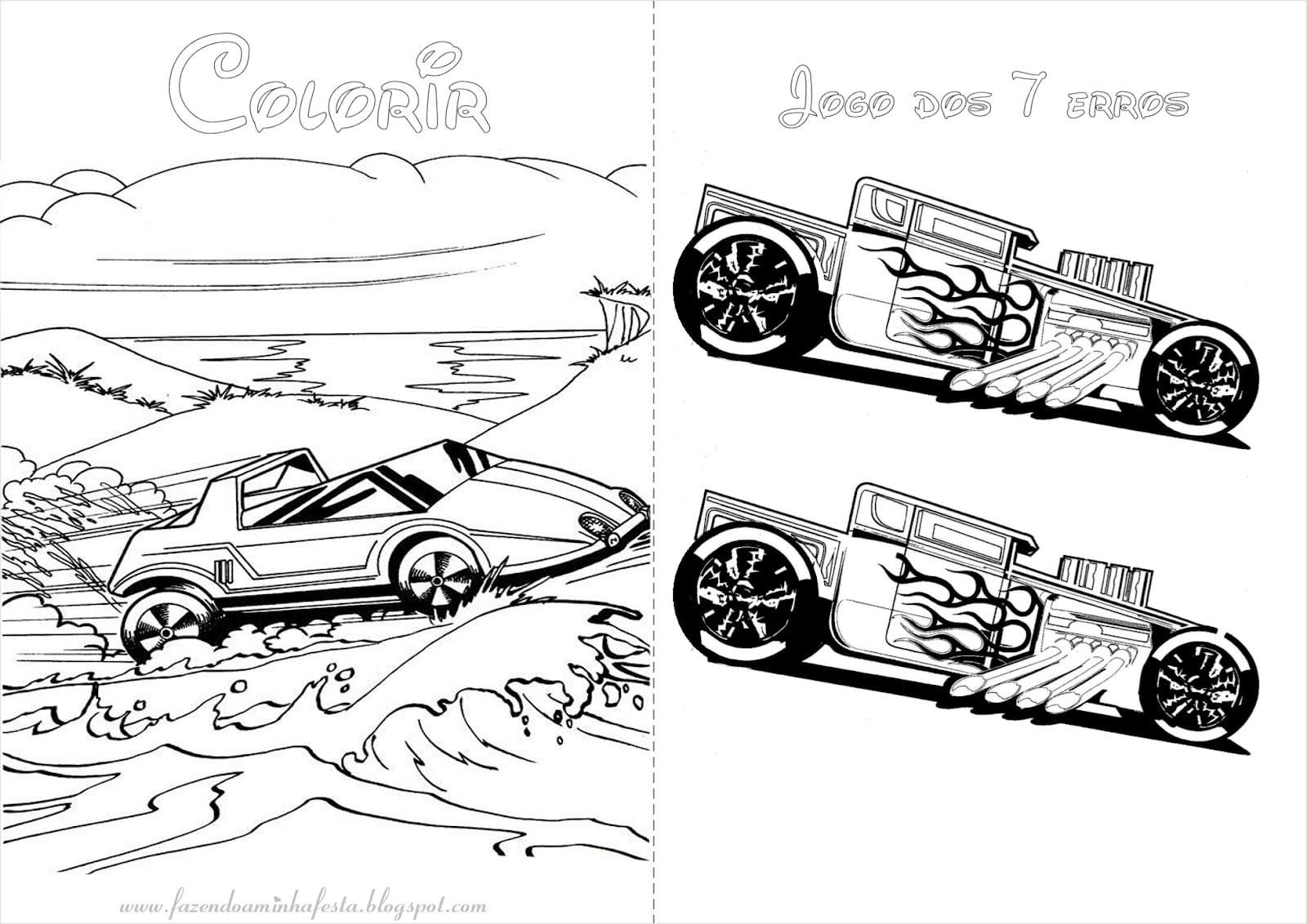 Desenho Da Hot Wheels Para Colorir