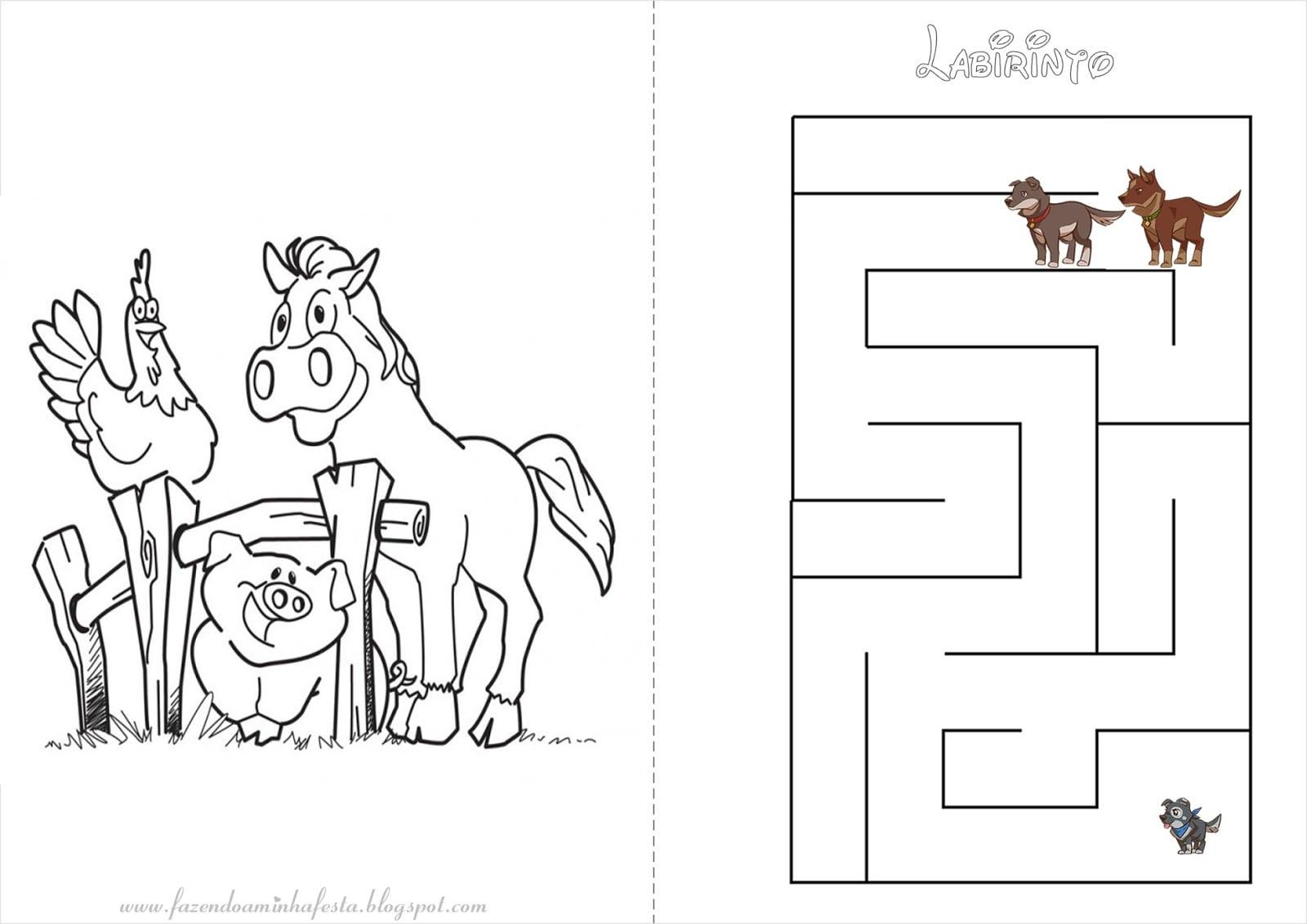 Letras Minegraft Fazendo A Nossa Festa: Desenhos Para Colorir Fazendinha