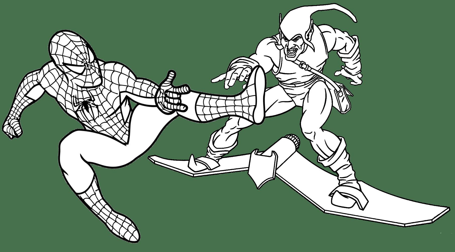 Jogo Pinte Homem Aranha Lutando