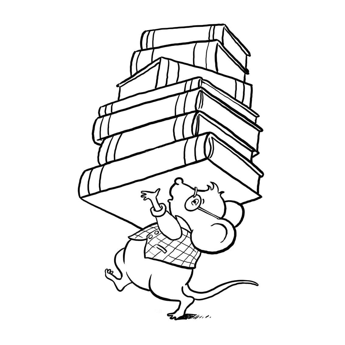 Desenho De Ratinho Com Lápis Para Colorir