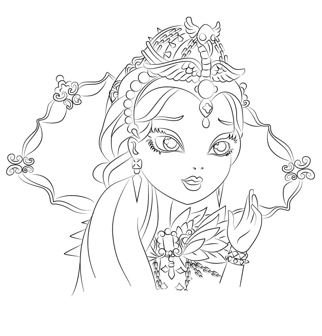 Desenho De Raven Queen De Ever After High Para Colorir