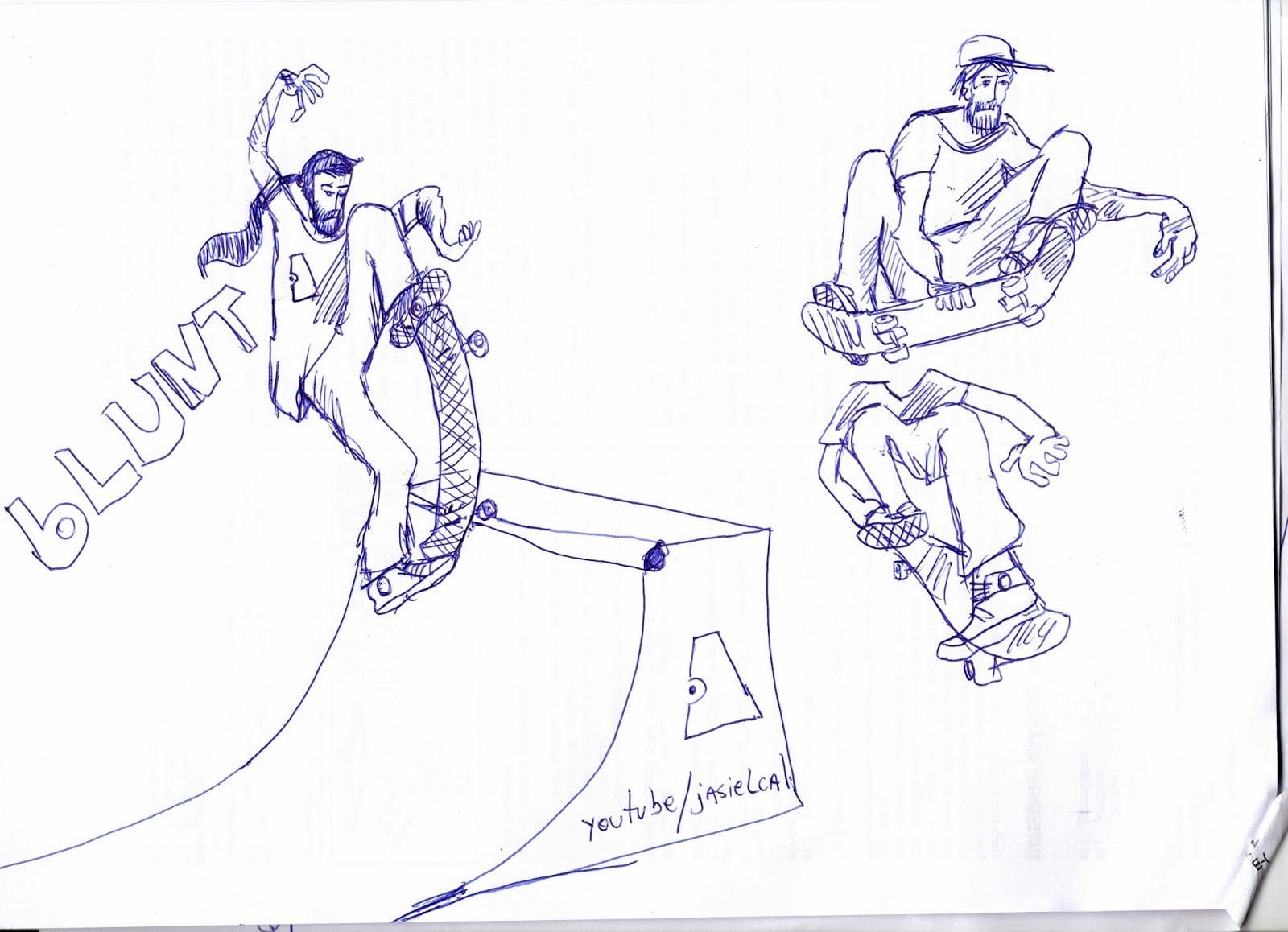 Skateboarding Até O Osso  Aprenda A Desenhar Skatistas Fazendo