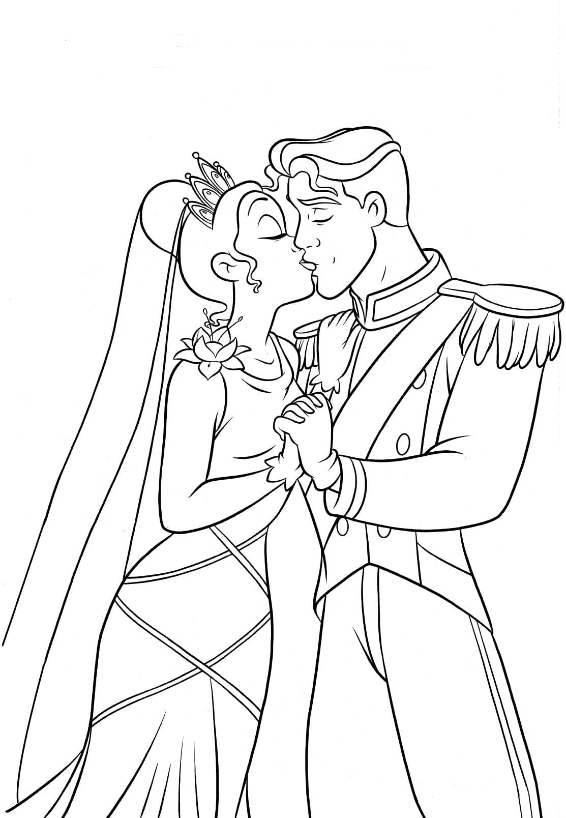 Desenhos De A Princesa E O Sapo Para Colorir