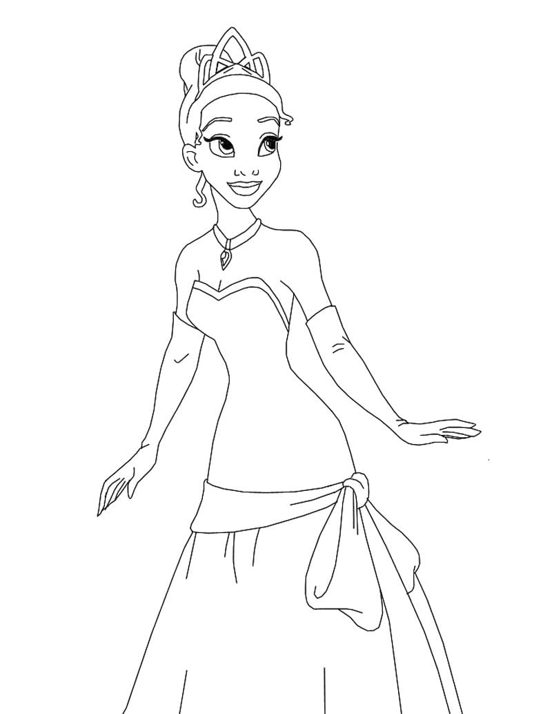 Desenhos Para Colorir De A Princesa E O Sapo Para Colorir