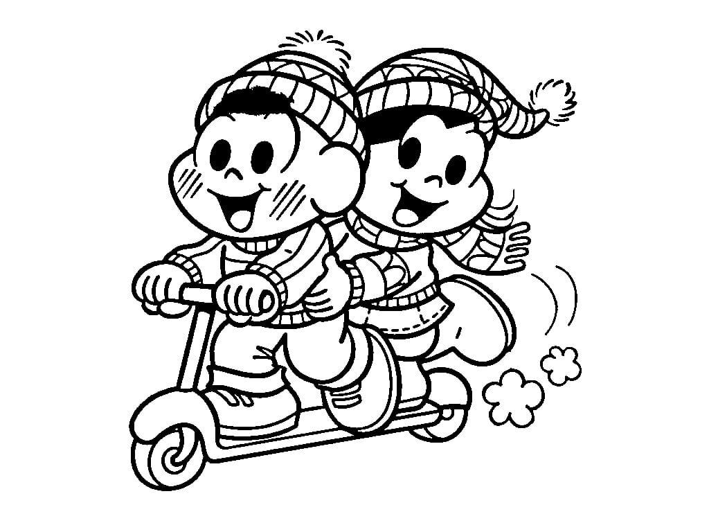 Desenhos Para Colorir – Inverno Turma Da Mônica No Jogos Online Wx
