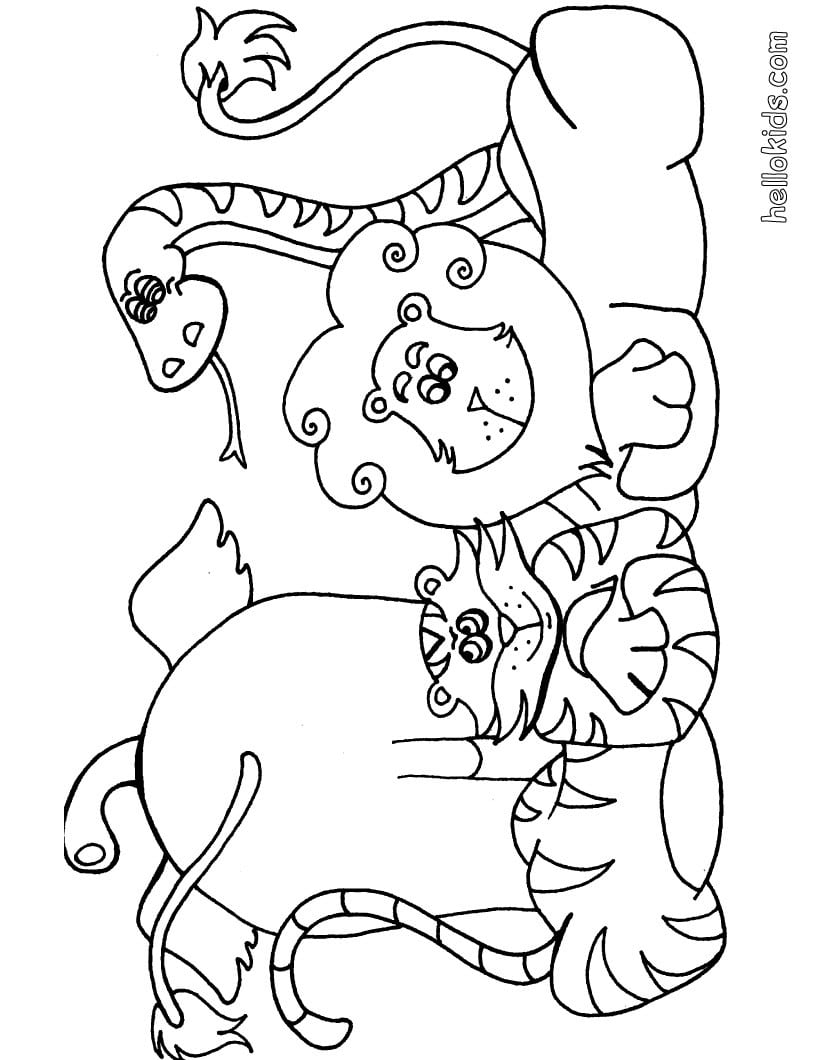 Desenhos Para Colorir De Desenho De Animais Selvagens Para Colorir