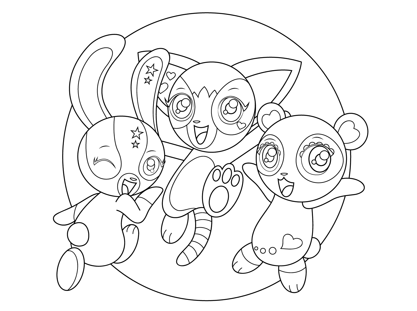 Desenho De Yoohoo Mangá Para Colorir