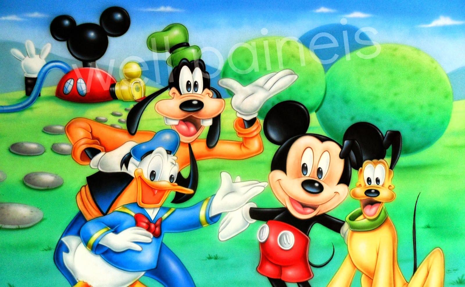 Well Painéis E Aérografia  Mickey , Casa Do Mickey Mouse Em Tecido
