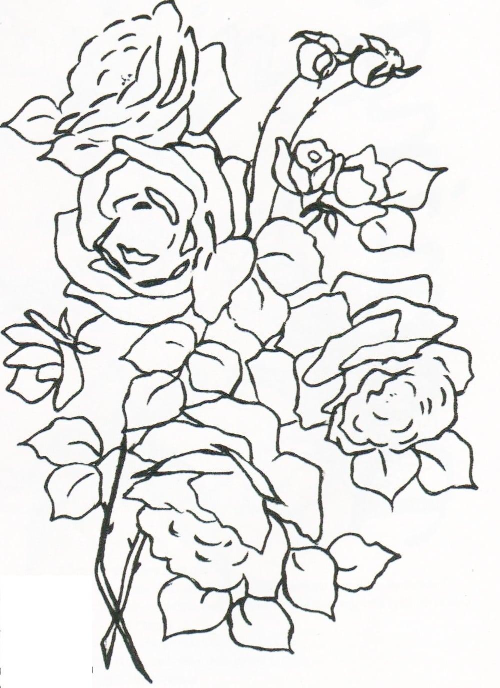 Cantinho Da Jana  Riscos De Rosa Para Pintura Em Tecido