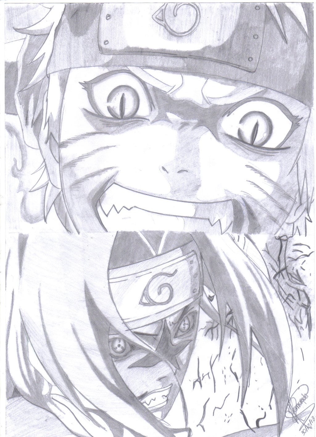 Naruto Vs Sasuke Meu Desenho 2 By Ronstadt Deviantart Com On