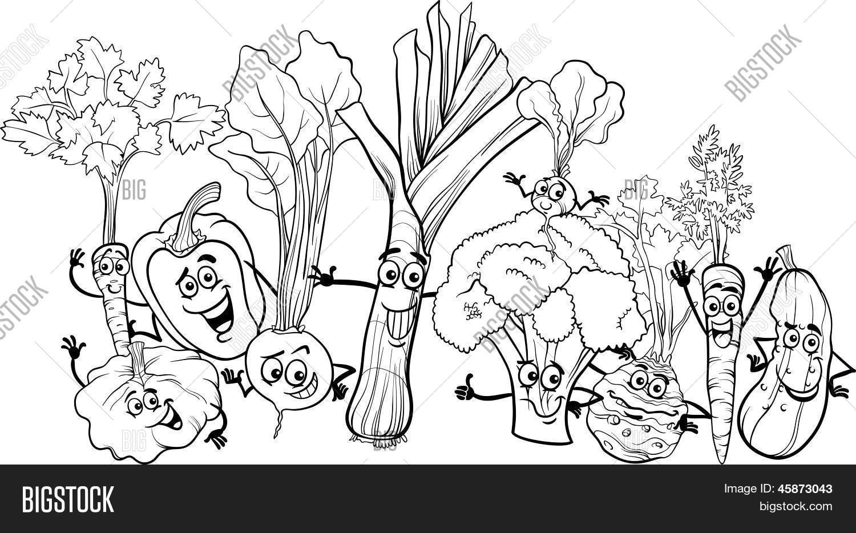 Desenhos Para Colorir Legumes