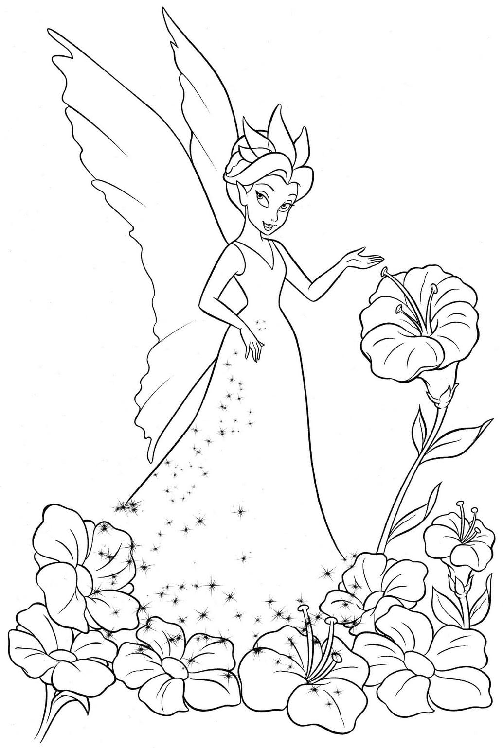 Coloring Pages Of Tinkerbell And Friends