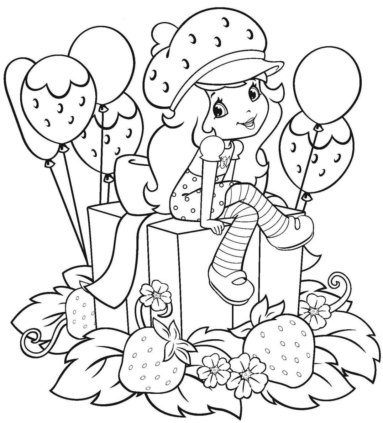 Sandra Doing Art  Strawberry Shortcake