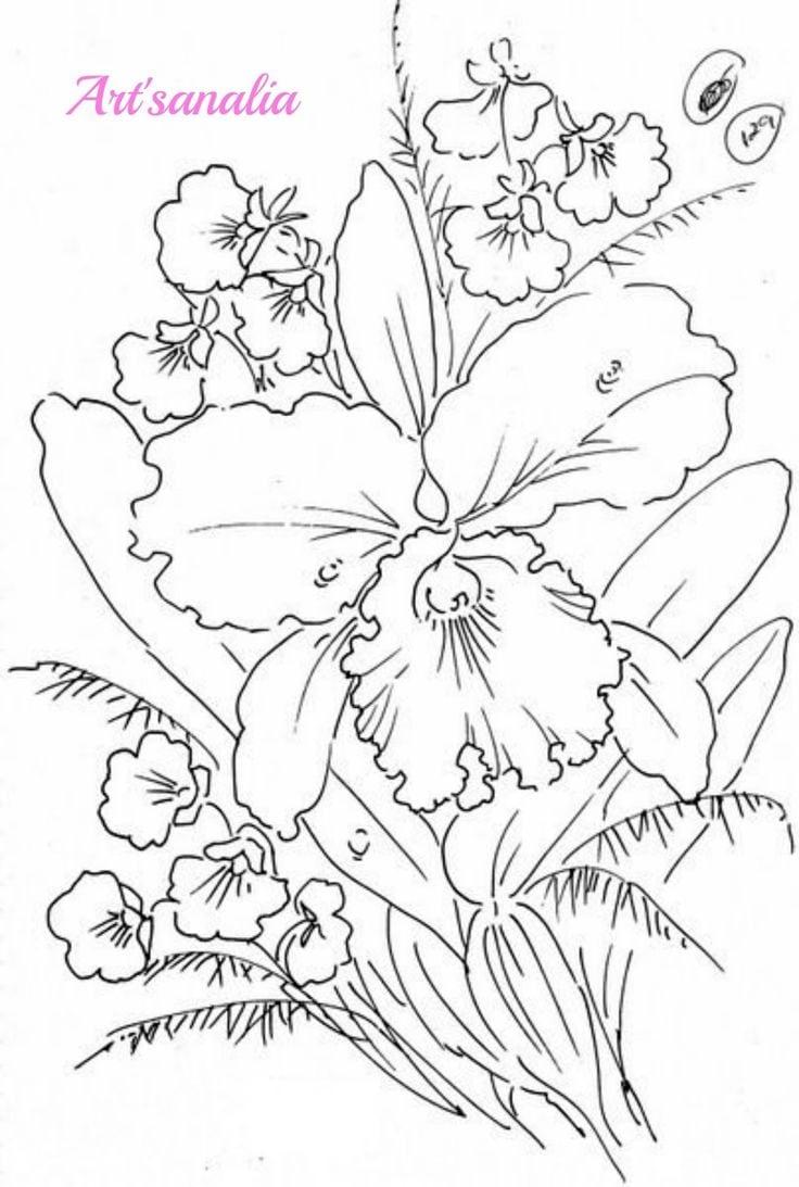 25+ Melhores Ideias De Desenhos De Flores Somente No Coloring City