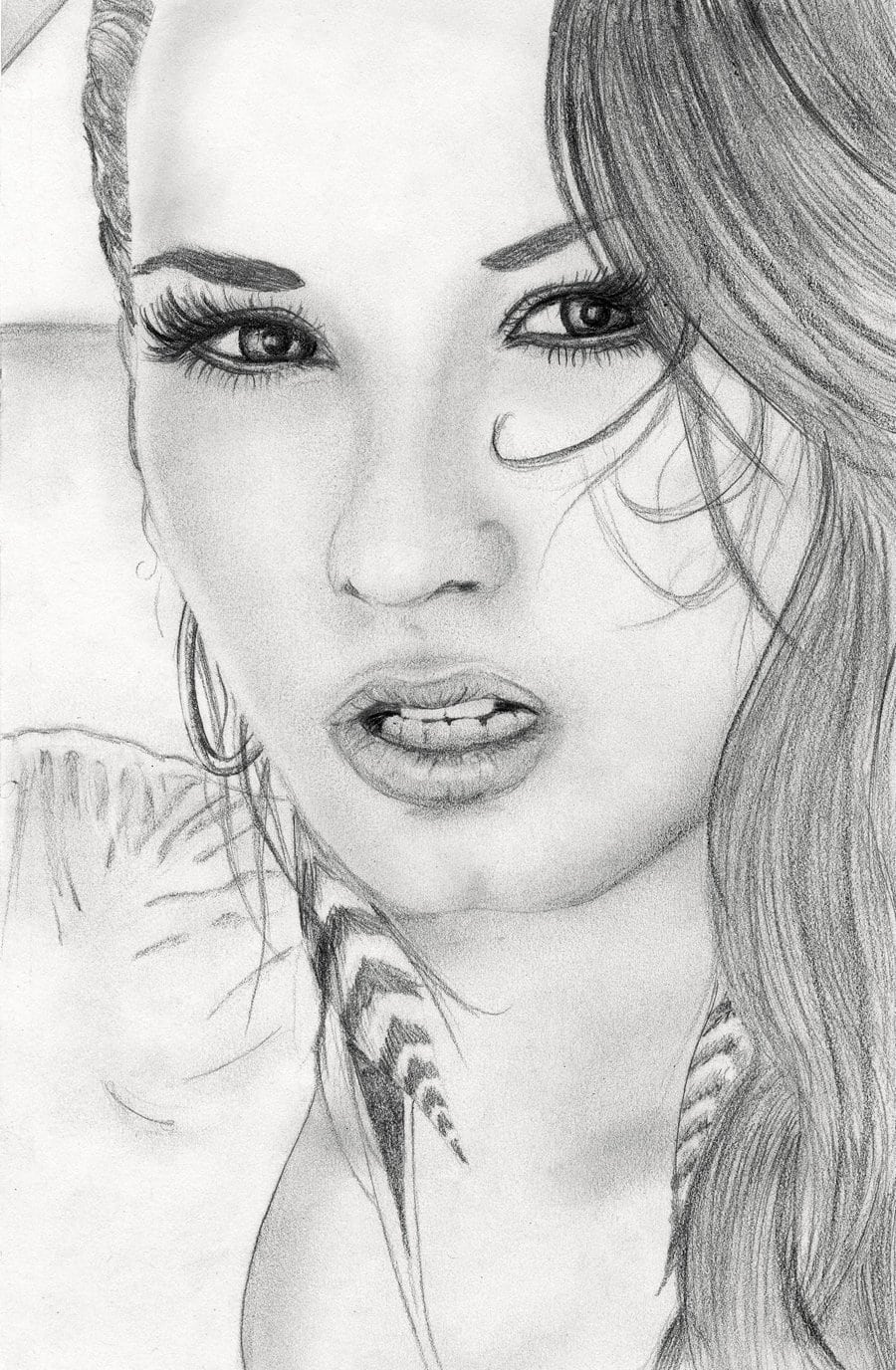 Most Insane Drawing Of Demi Lovato By Pedro Lopes