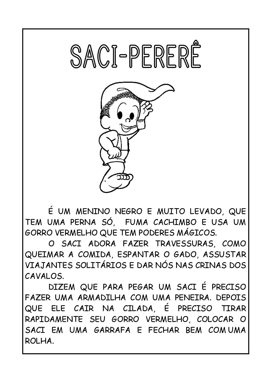 Extremamente Lendas Do Folclore Brasileiro Para Imprimir HC66