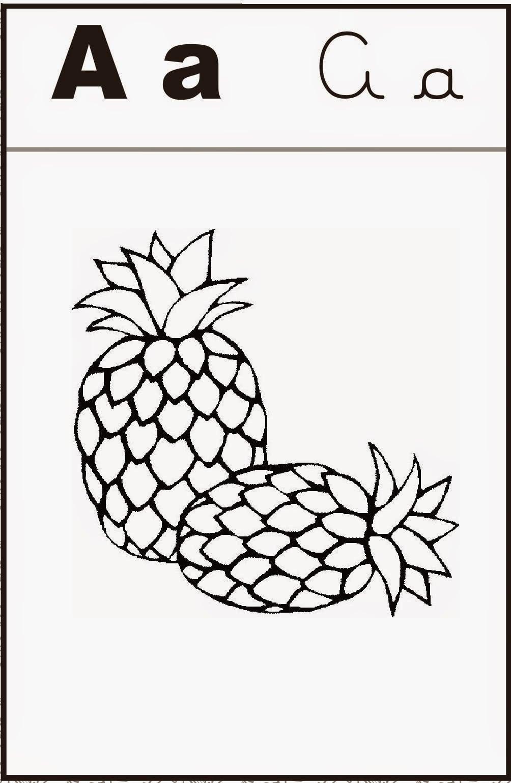 Alfabeto Ilustrado De Colorir Para Imprimir E Pintar!