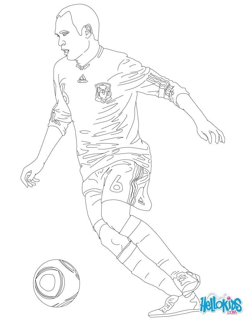 Desenhos De Jogadores De Futebol Para Colorir