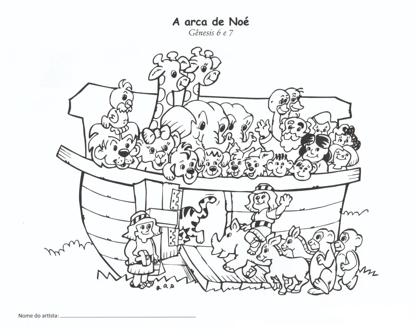 30 Desenhos, Moldes E Riscos Da Arca De Noé Para Colorir, Pintar