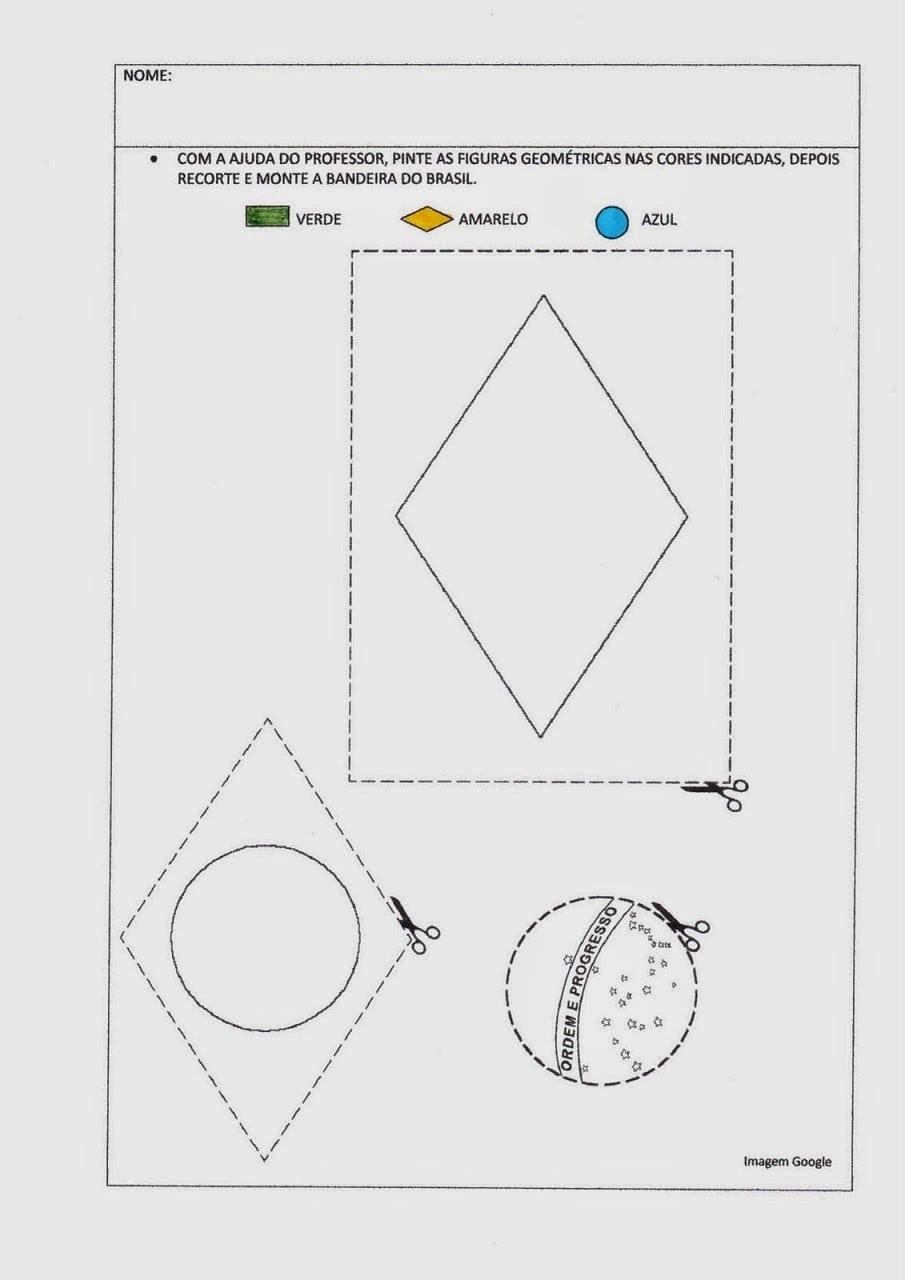 Jornal R 7ª  Atividades Com A Bandeira Do Brasil Para Imprimir E