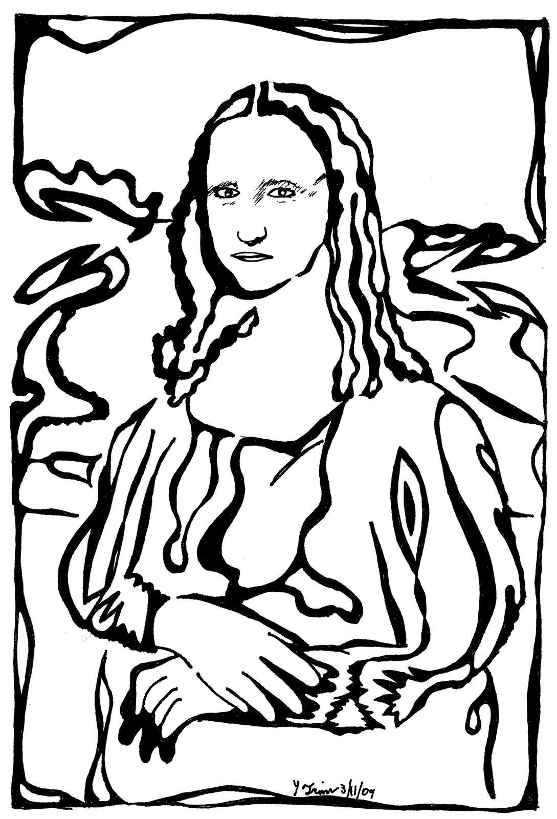 Mona Lisa Coloring