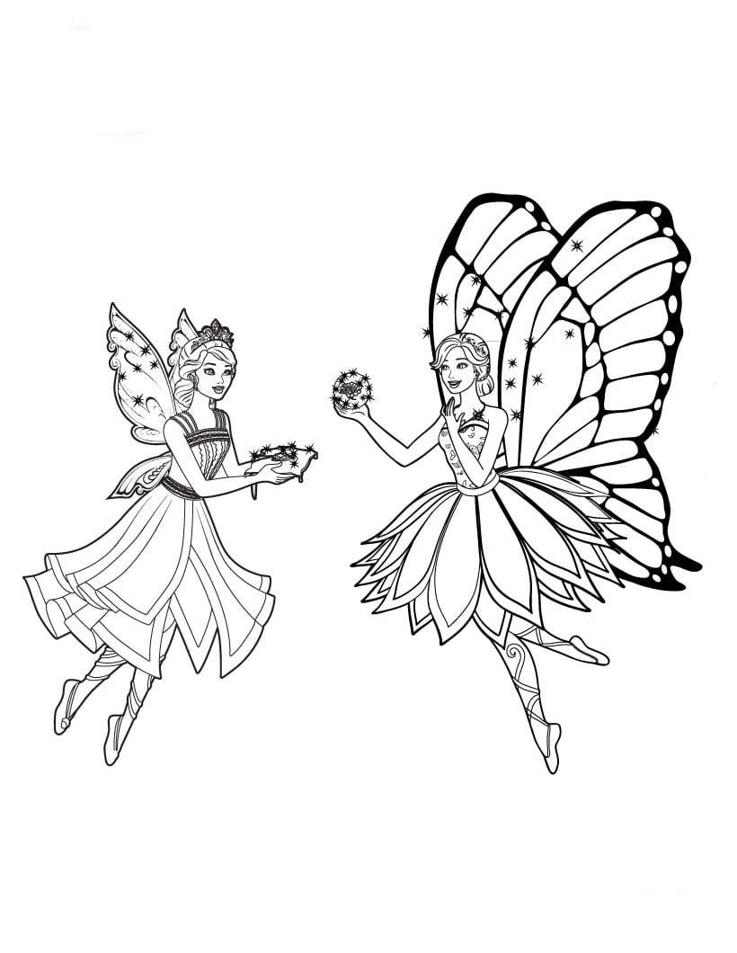 Desenhos De Barbie Butterfly Para Colorir