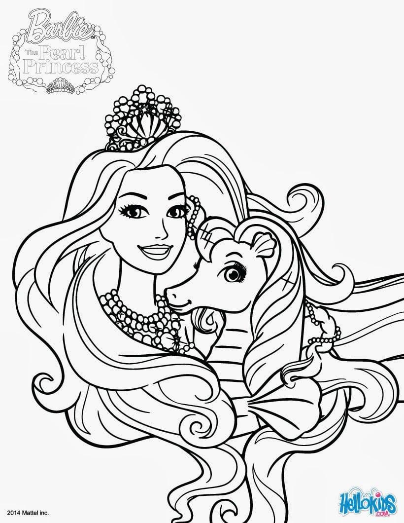 Colorir Barbie Sereia