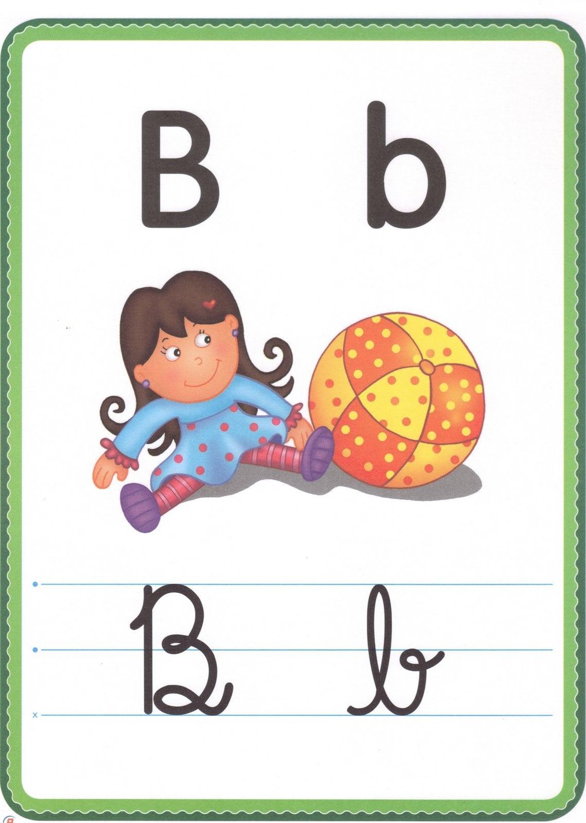 Alfabeto Ilustrado Colorido Para Imprimir