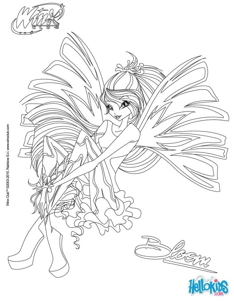 Desenhos Do Clube Das Winx Para Colorir