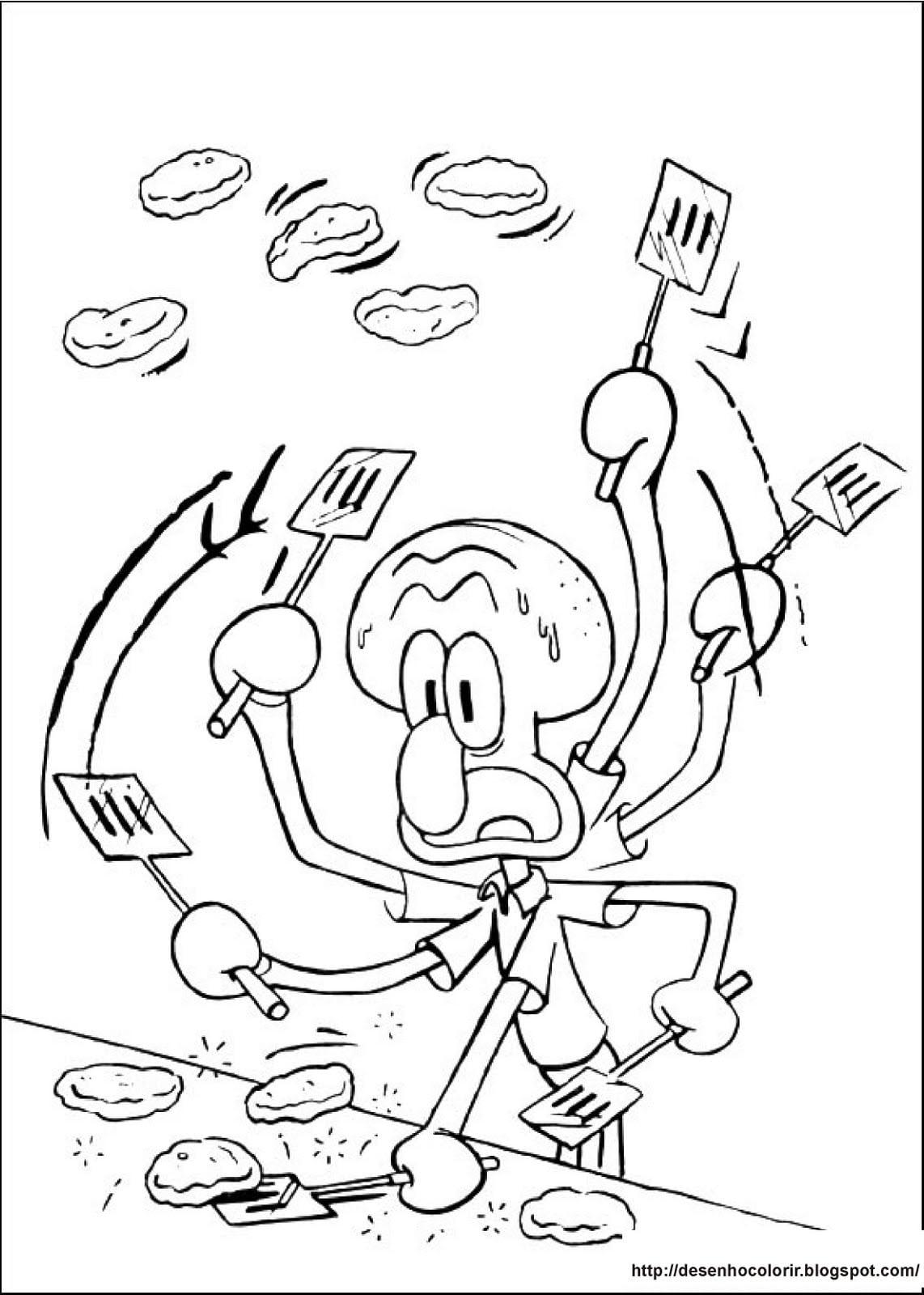 Desenhos Para Colorir  Bob Esponja 9 Desenhos Para Colorir