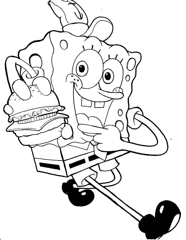 Desenhos Do Bob Esponja Para Colorir Tudodesenhos  De Festa De