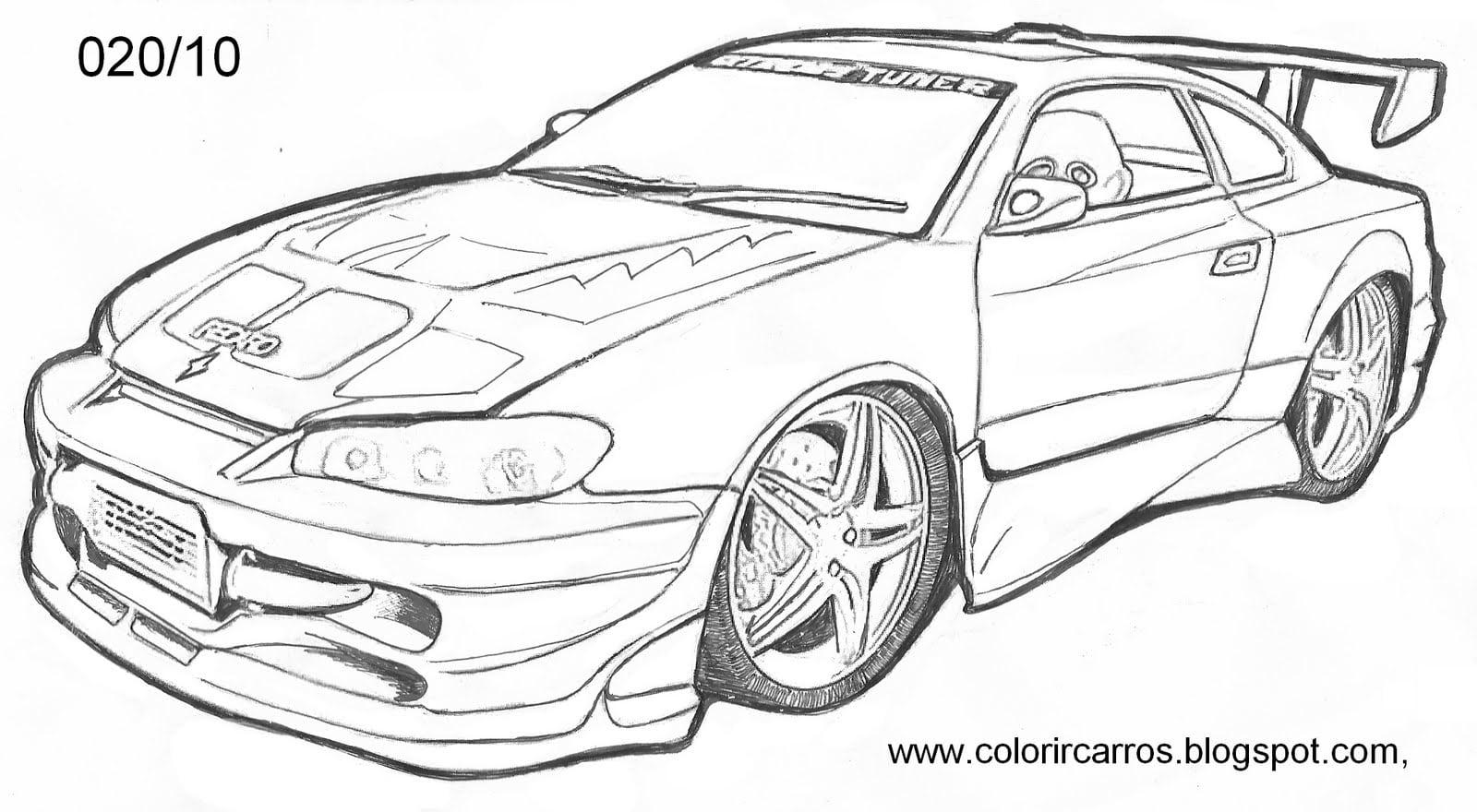 Imagens De Carros Tunados Para Colorir